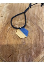 Timber & Tides Timber & Tides Necklaces Blue Hexagon