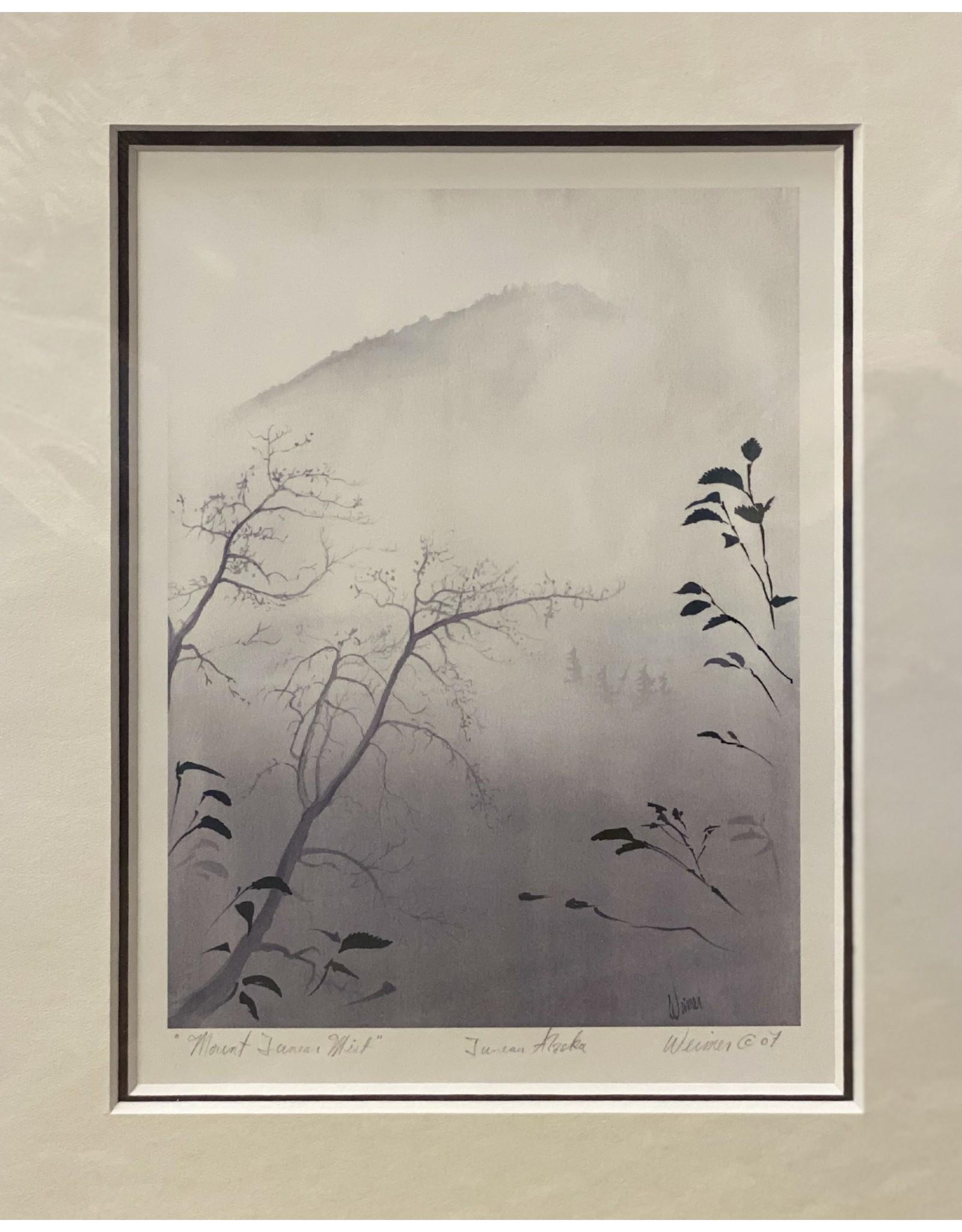 """Arnie Weimer Arnie Weimer """"Mount Juneau Mist"""" 8x10 Matted"""
