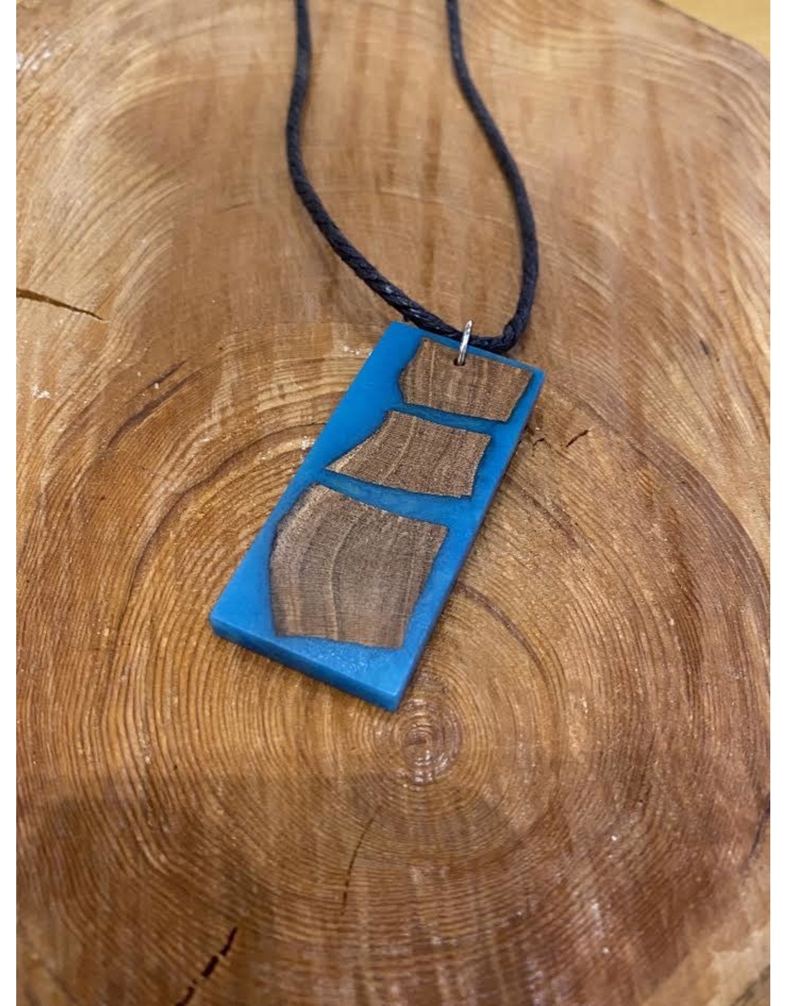 Timber & Tides Timber & Tides Necklaces Blue Rectangle Large