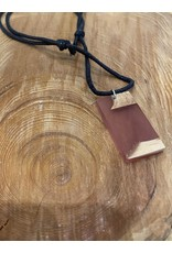 Timber & Tides Timber & Tides Necklaces Orange Rectangle