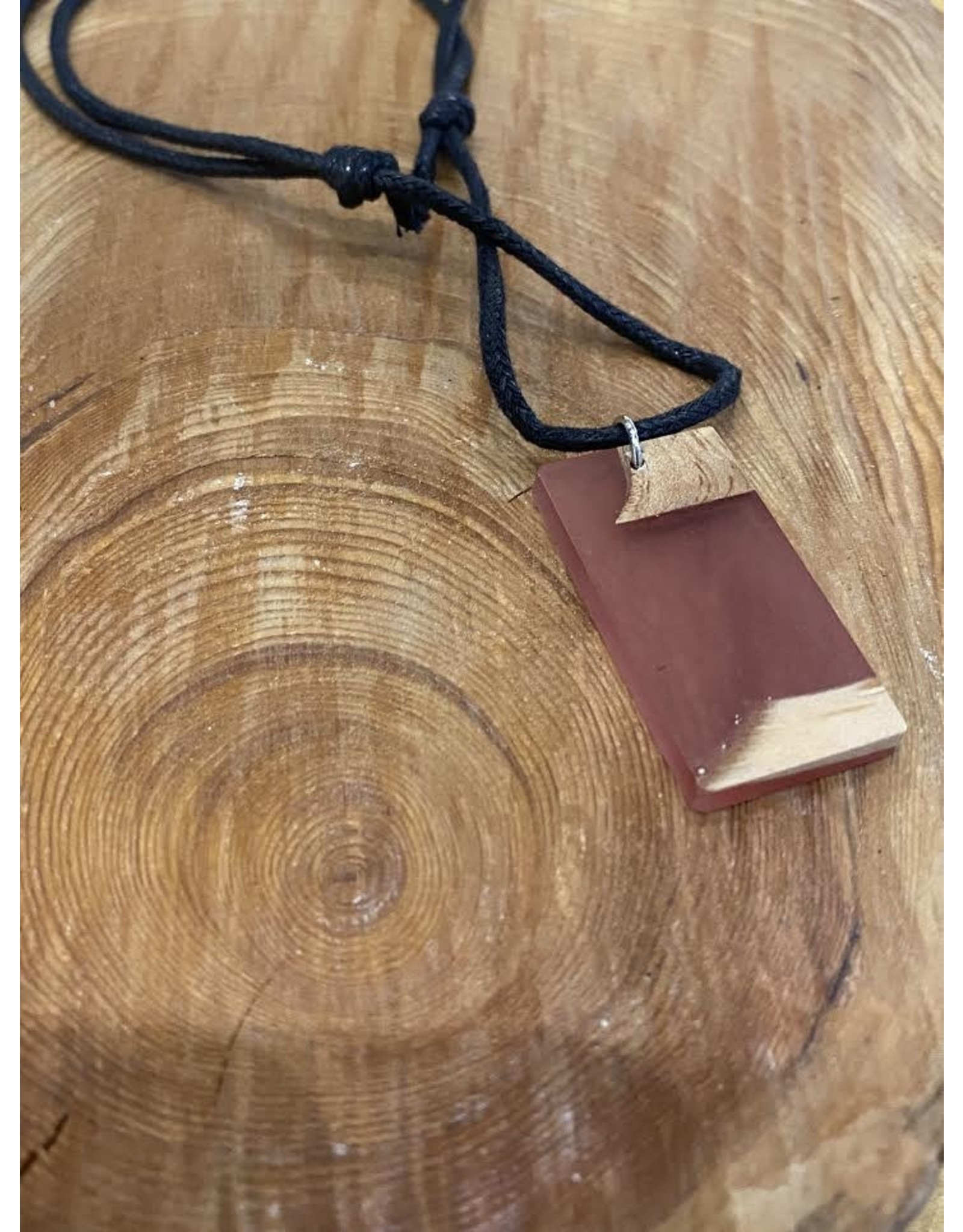 Timber and Tides Timber & Tides Necklaces Orange Rectangle