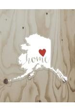 Wren & the Raven Sticker (alaska heart home) | Wren and the Raven