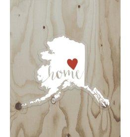 Wren & the Raven Sticker (alaska heart home)