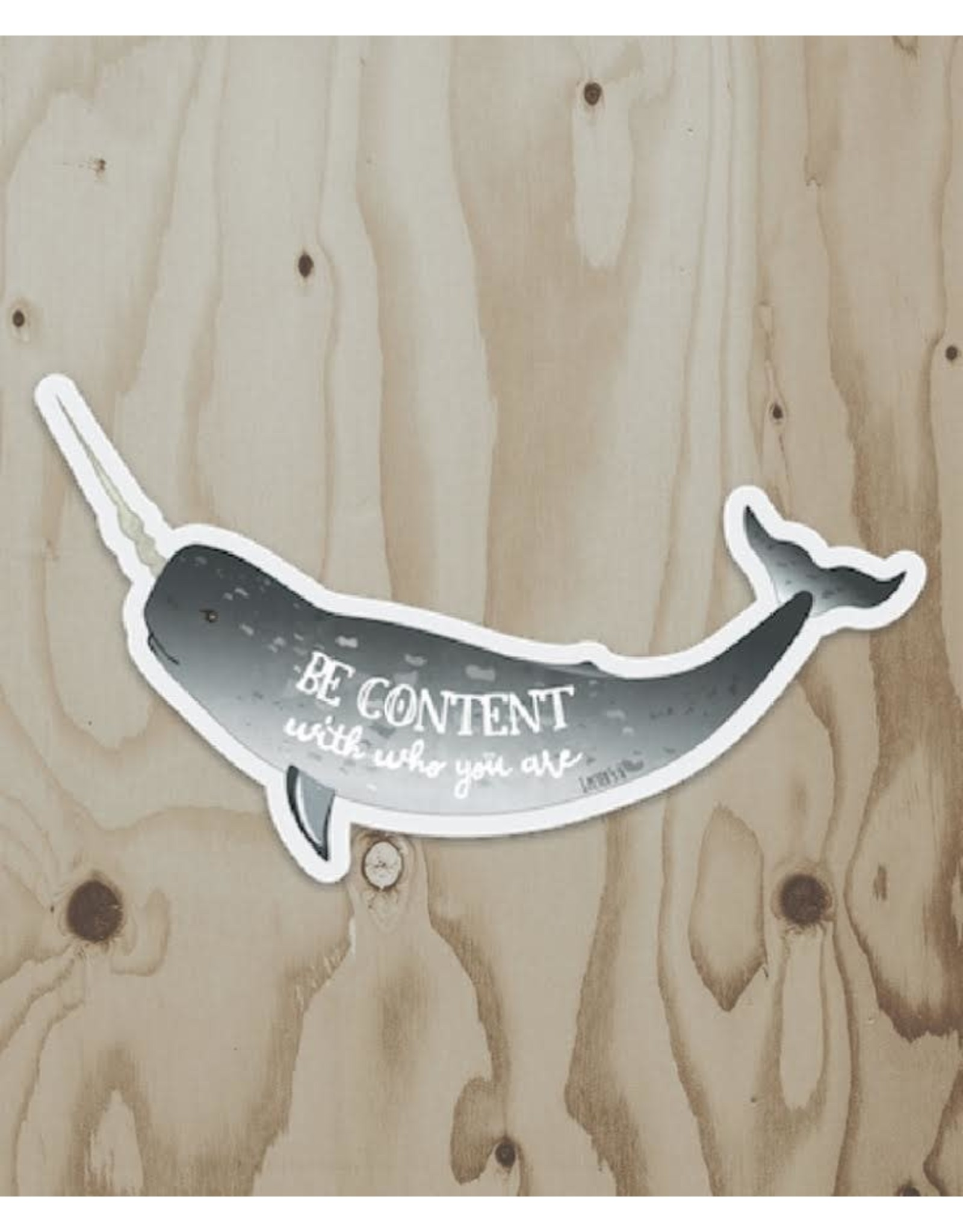 Wren & the Raven Sticker (be content)   Wren and the Raven