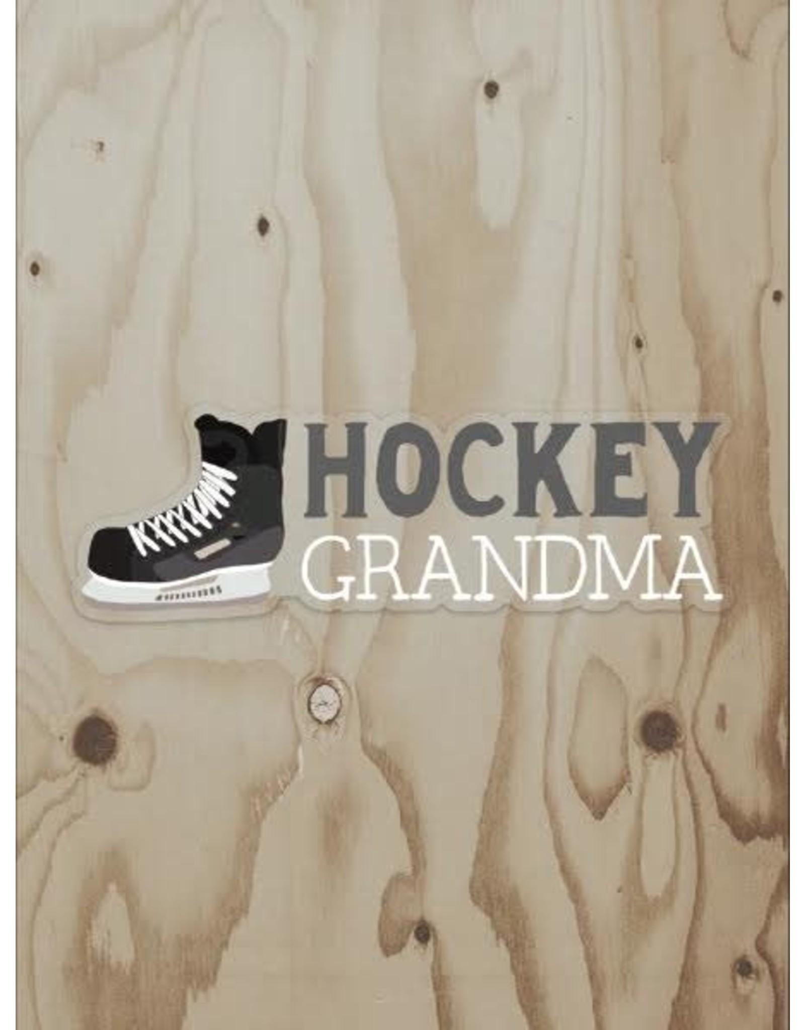 Wren & the Raven Sticker (hockey grandma)   Wren and the Raven