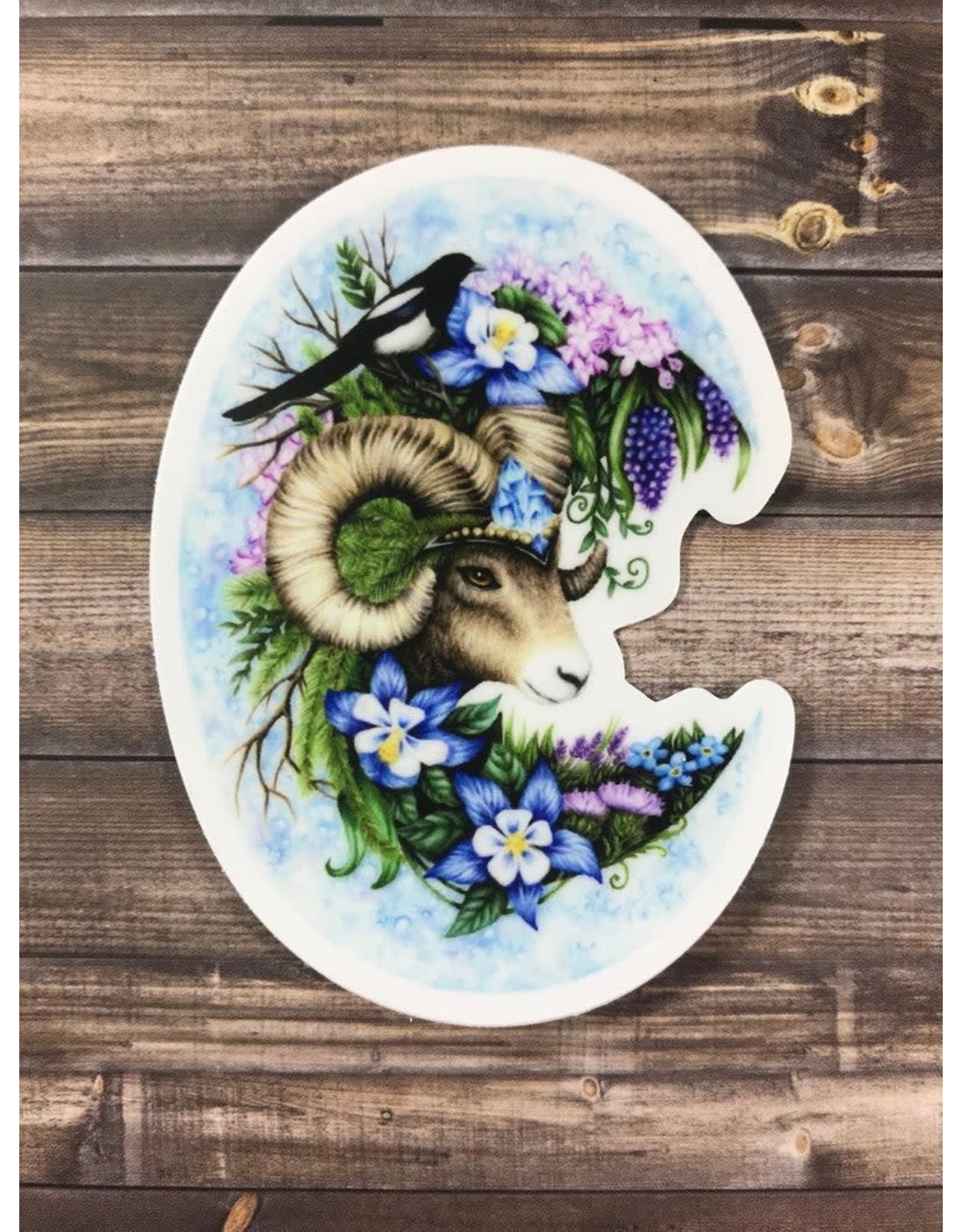 Abundance Illustration Mandy Heck Bighorn Sheep Sticker