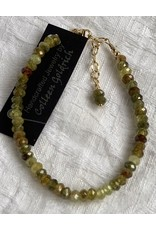 Moondance Alaska by Colleen Goldrich Moondance Bracelet Green Garnet & 14k gold-fill