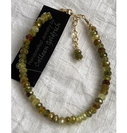 Moondance Alaska by Colleen Goldrich Moondance Bracelet Green Garnet & 14k gold-fill