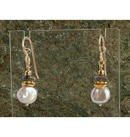 Moondance Alaska by Colleen Goldrich Moondance Earrings Keshi Pearls, Labradorite, Mixed 14k gold-fill