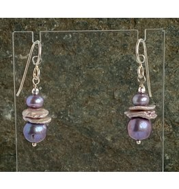Moondance Alaska by Colleen Goldrich Moondance Earrings Mixed Freshwater & Keshi Pearls Sterling Silver