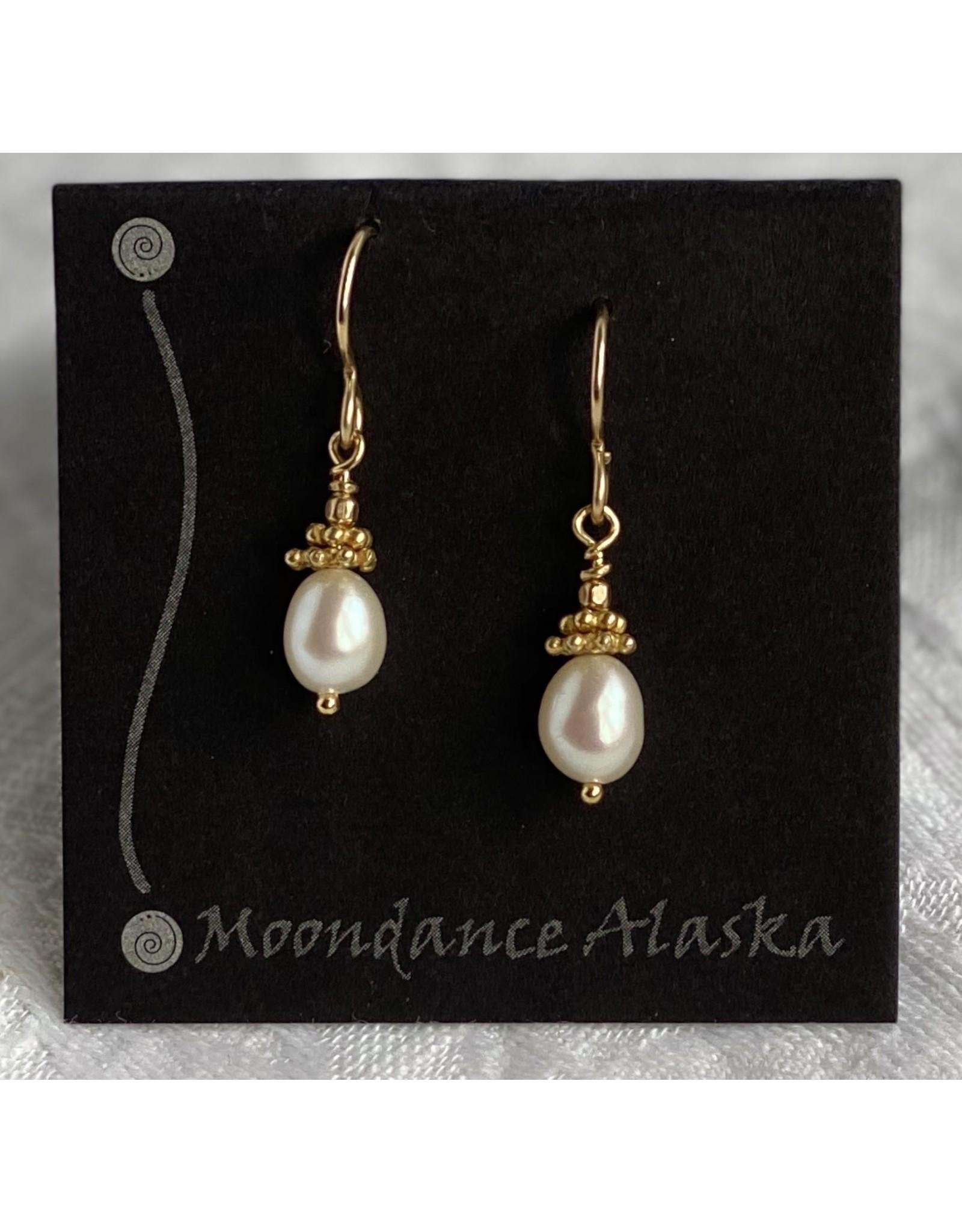 Moondance Alaska by Colleen Goldrich Moondance Earrings Pearl & Mixed 14k gold-fill