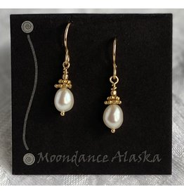 Moondance Alaska by Colleen Goldrich Moondance Earrings Pearl & Mixed 14k gold-fill