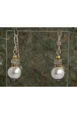 Moondance Alaska by Colleen Goldrich Moondance Earrings Pearls, Labradorite, 14k gold-fill & Sterling Silver