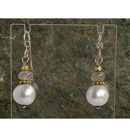 Moondance Alaska by Colleen Goldrich Moondance Earrings Pearls, Labradorite, 14k gold-fill & Sterling Silver