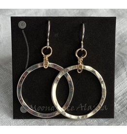 "Moondance Alaska by Colleen Goldrich Moondance ""O"" Earrings MixMetal Medium"