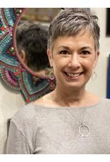 "Moondance Alaska by Colleen Goldrich Moondance ""O"" Earrings MixMetal Medium"