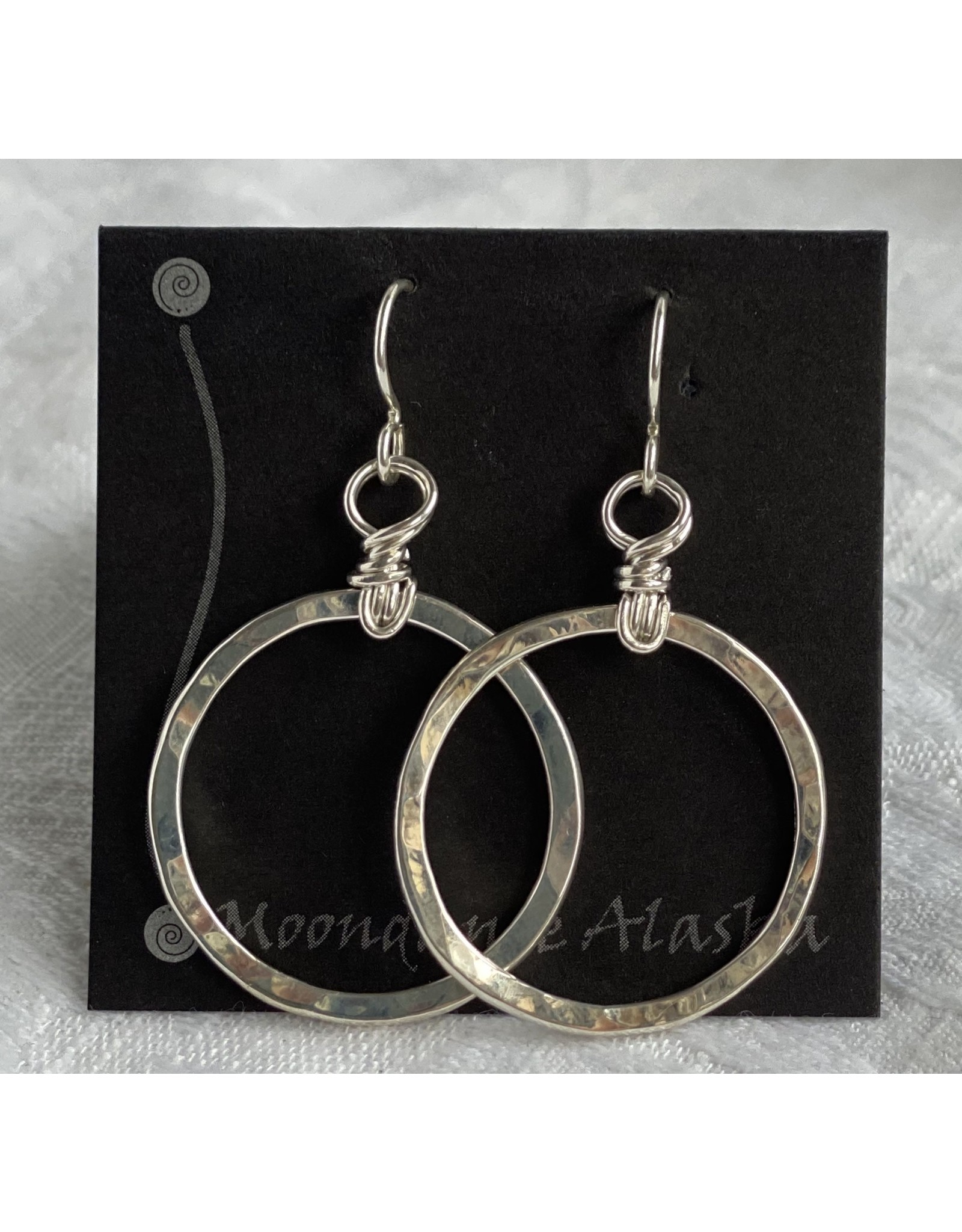 "Moondance Alaska by Colleen Goldrich Moondance ""O"" Earrings Sterling Silver Medium"