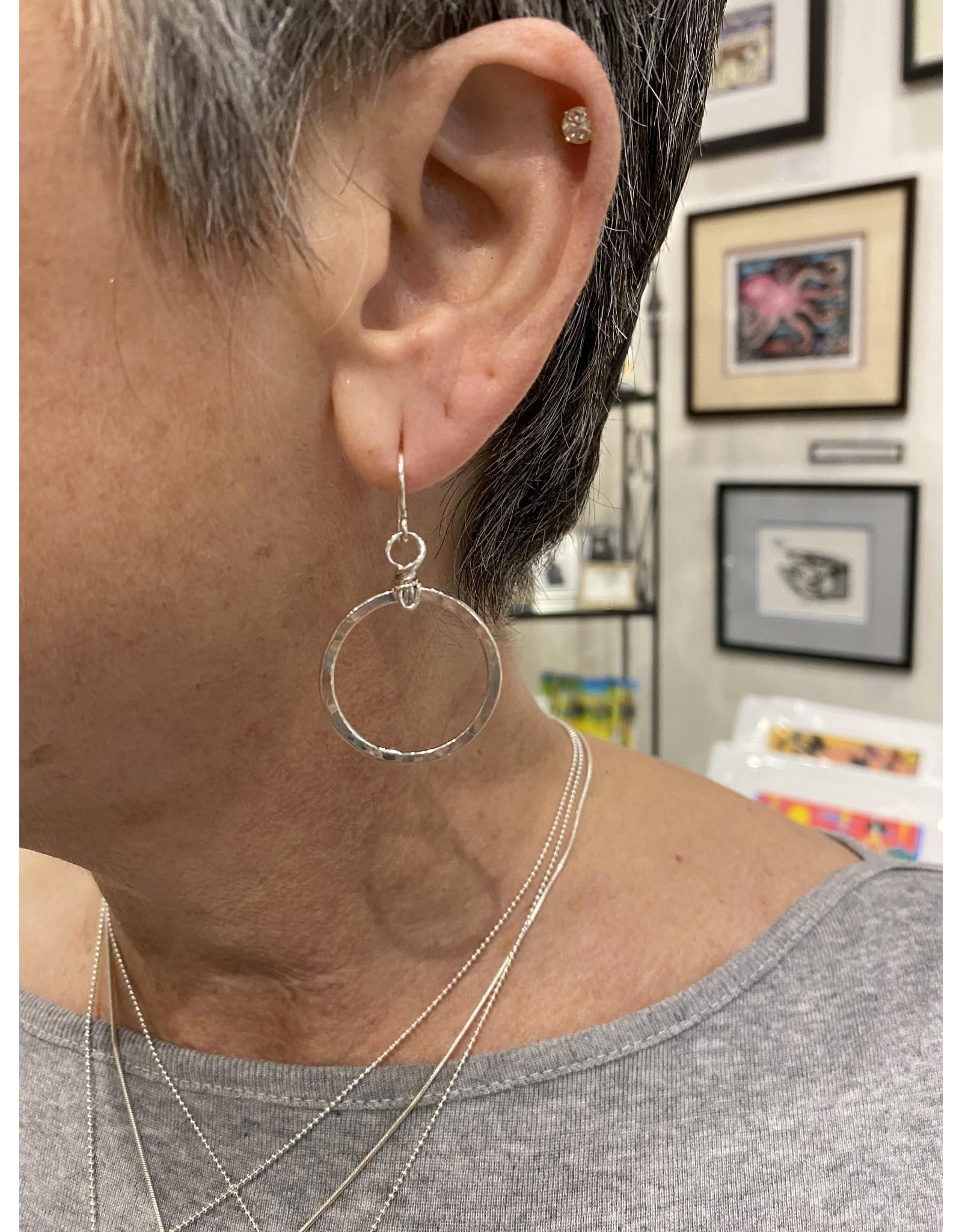 "Moondance Alaska by Colleen Goldrich Moondance ""O"" Earrings Sterling Silver Medium"