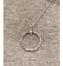 "Moondance Alaska by Colleen Goldrich Moondance ""O"" Pendant SS medium"