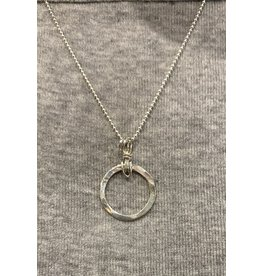 "Moondance Alaska by Colleen Goldrich Moondance ""O"" Pendant SS small"