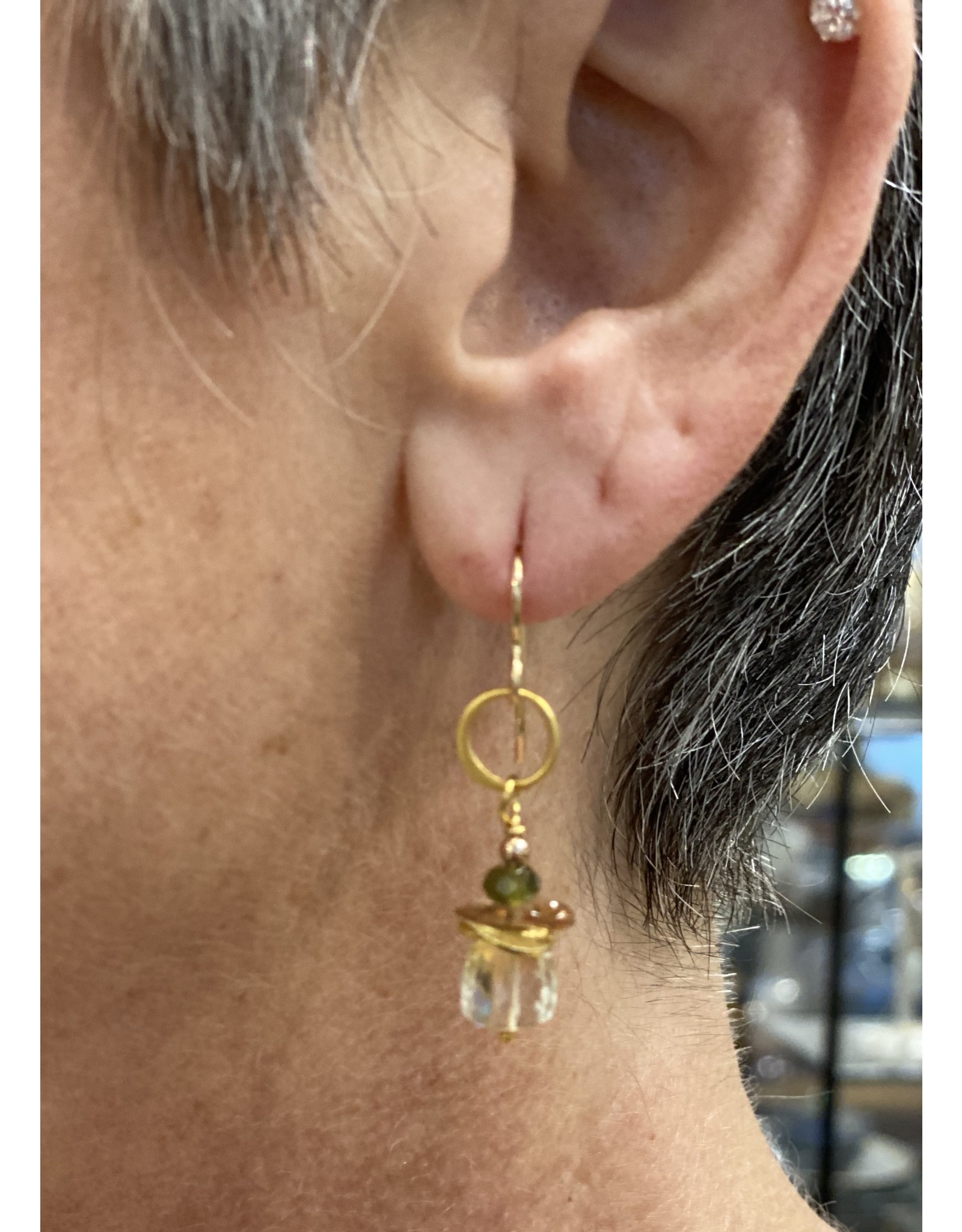 Moondance Alaska by Colleen Goldrich Moondance Earrings Citrine, Sunstone, Green Garnet, 14k gold-fill