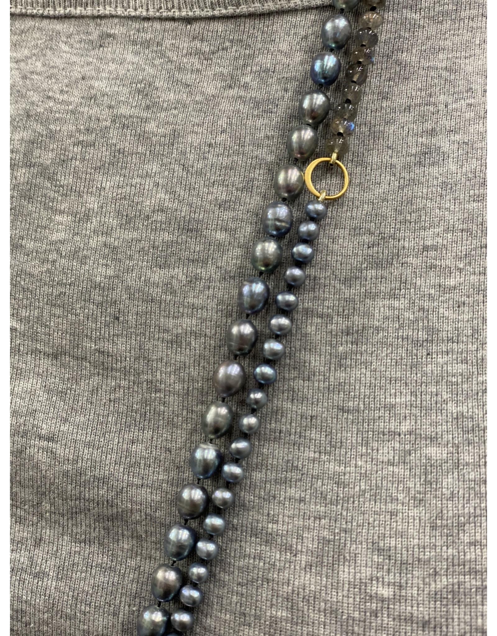 Moondance Alaska by Colleen Goldrich Moondance Necklace Mixed Pearls, Labradorite, 14K Gold Fill
