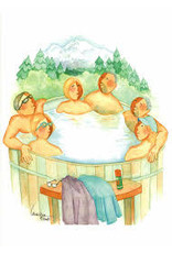 "Barbara Lavallee Barbara Lavallee ""Tub Full of Tourists"" Art Card"
