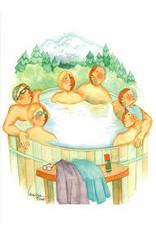 Barbara Lavallee Tub Full of Tourists (art card) | Barbara Lavallee