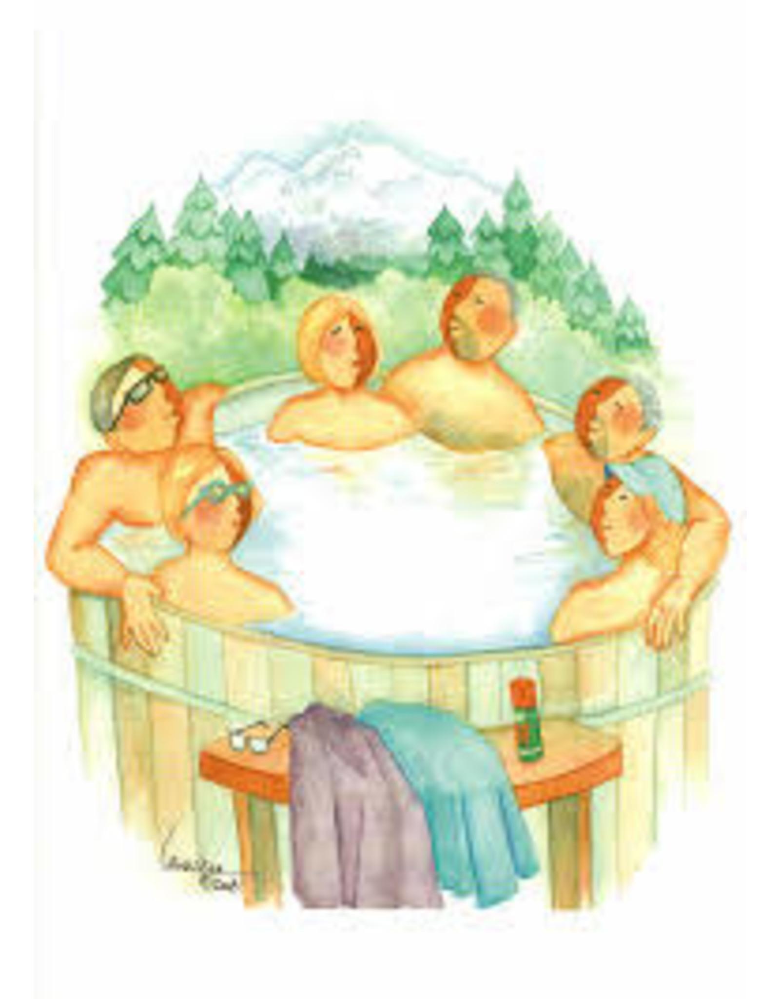 Barbara Lavallee Tub Full of Tourists (art card)   Barbara Lavallee