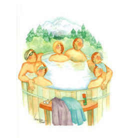 Barbara Lavallee Tub Full of Tourists (art card)