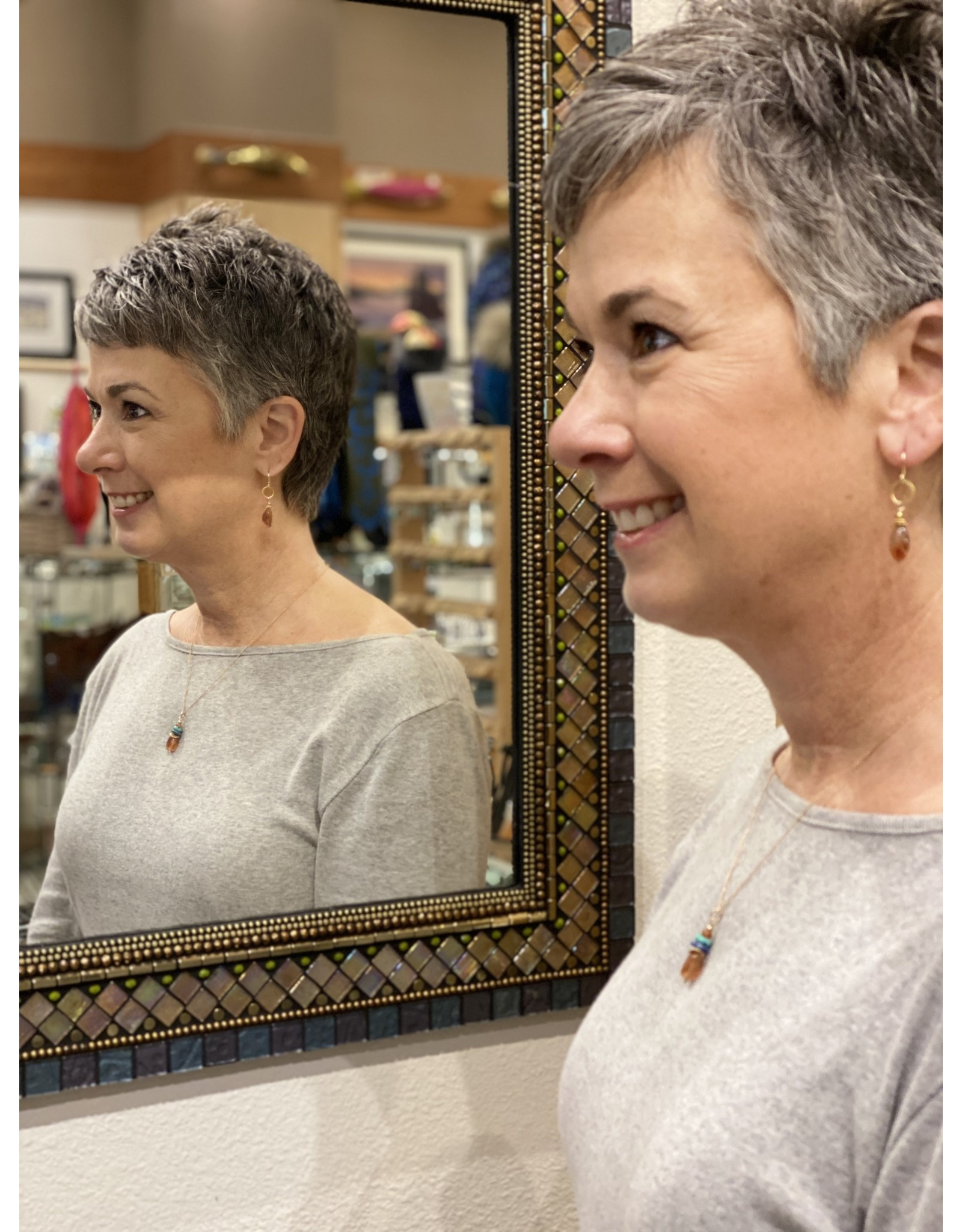 Moondance Alaska by Colleen Goldrich Moondance Earrings Glorious Sunstone, 14k gold-fill