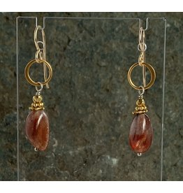Moondance Alaska by Colleen Goldrich Moondance Earrings Glorious Sunstone, 14k gold-fill