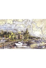 Brenda Schwartz Yeager Wrangell Harbor (art card) | Brenda Schwartz-Yeager