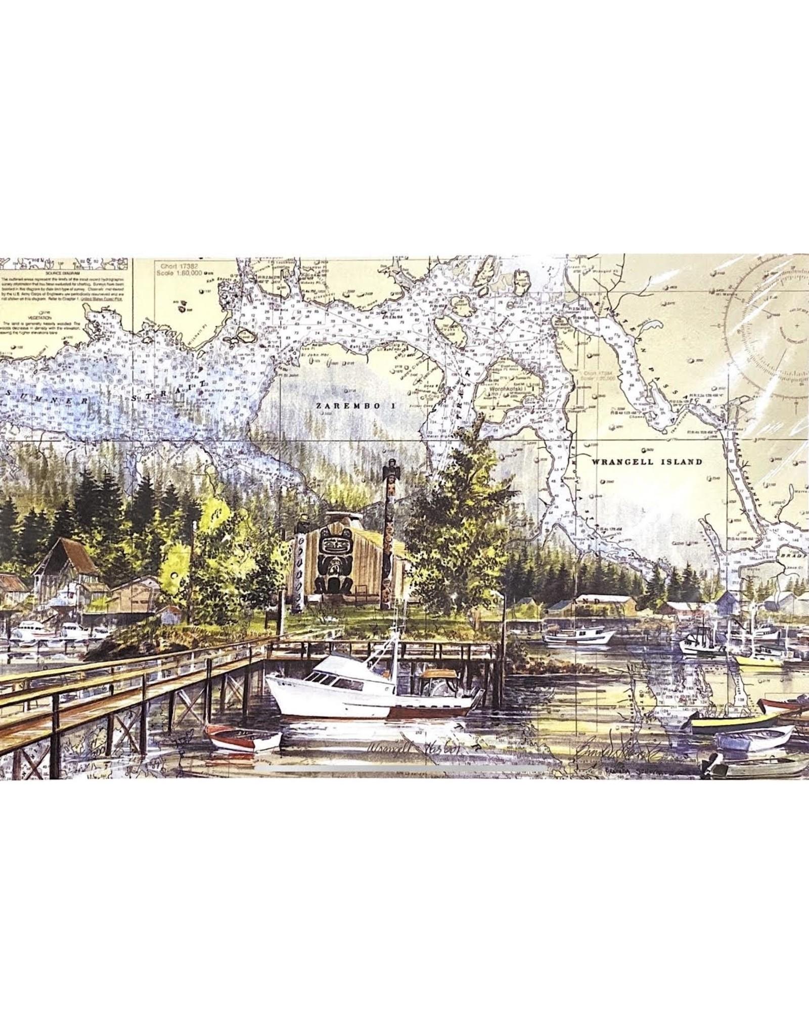 """Brenda Schwartz Brenda Schwartz-Yeager """"Wrangell Harbor"""" Art Card"""