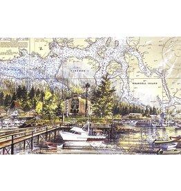 "Brenda Schwartz Yeager Brenda Schwartz-Yeager ""Wrangell Harbor"" Art Card"