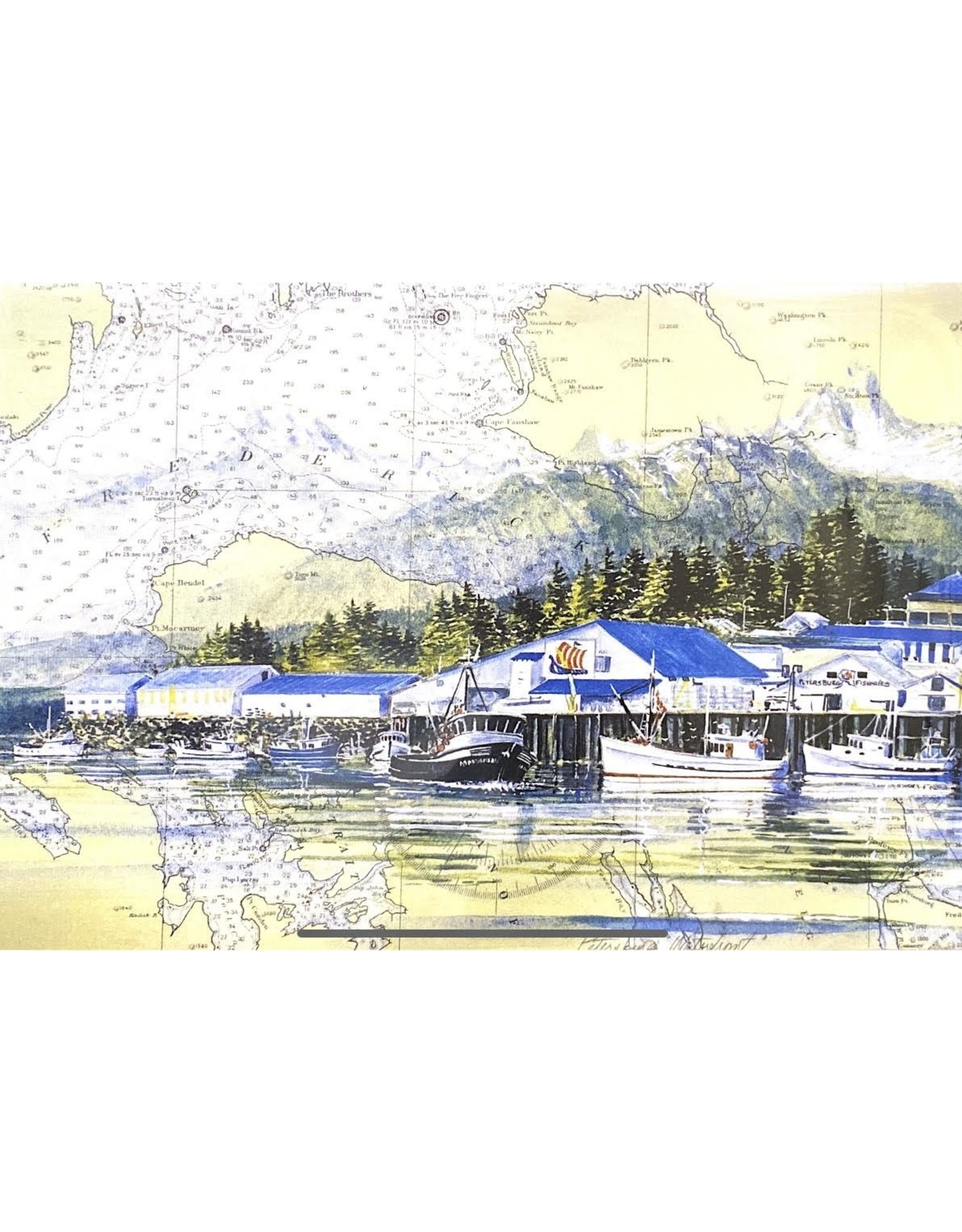 "Brenda Schwartz Yeager Brenda Schwartz-Yeager ""Petersburg Waterfront"" Art Card"