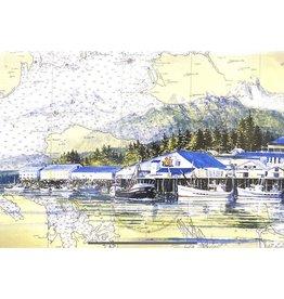 """Brenda Schwartz Brenda Schwartz-Yeager """"Petersburg Waterfront"""" Art Card"""