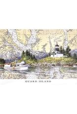 """Brenda Schwartz Brenda Schwartz-Yeager """"Guard Island"""" Art Card"""