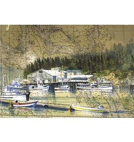 """Brenda Schwartz Yeager Brenda Schwartz-Yeager """"Home Port"""" Art Card"""
