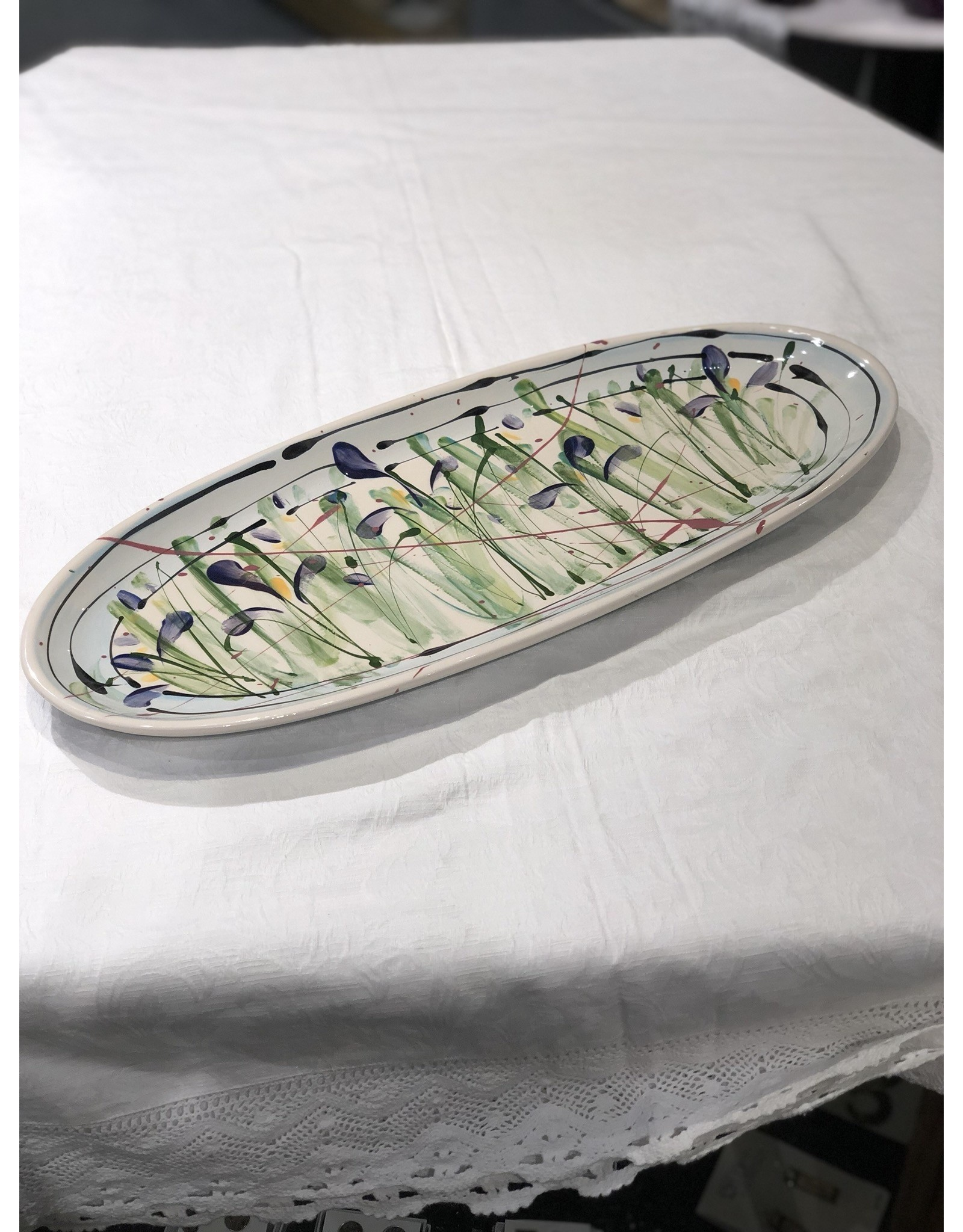 Donna Toohey Donna Toohey Oval Elongated Platter