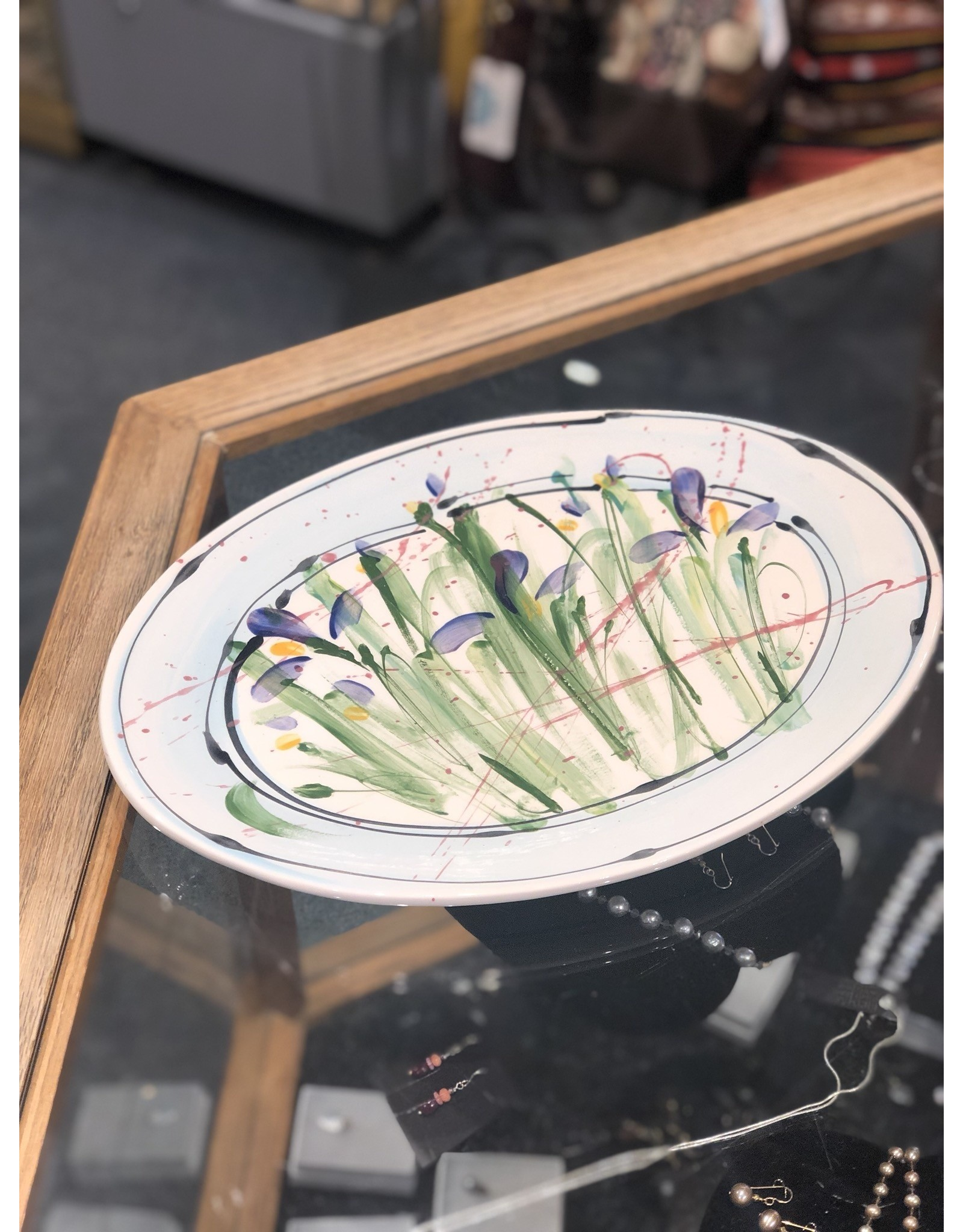Donna Toohey Donna Toohey   Oval Platter Medium Iris