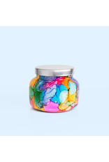 Capri Blue Volcano Rainbow Watercolor Jar Candle 19 oz