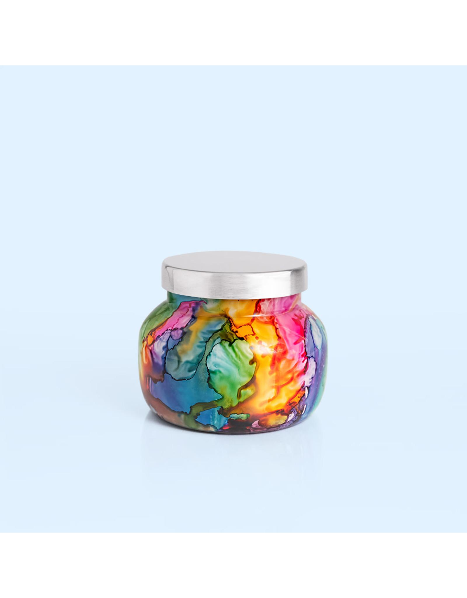 Capri Blue Volcano Rainbow Watercolor Petite Jar Candle