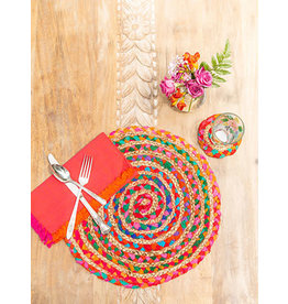 April Cornell Manana Braid Multi Bright Placemat