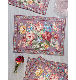 April Cornell Cottage Rose Amethyst Placemat
