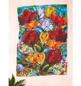 April Cornell Always Roses Multi Tea Towel