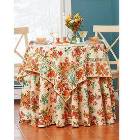 April Cornell Artist Garden Antique 54x54 Square Tablecloth