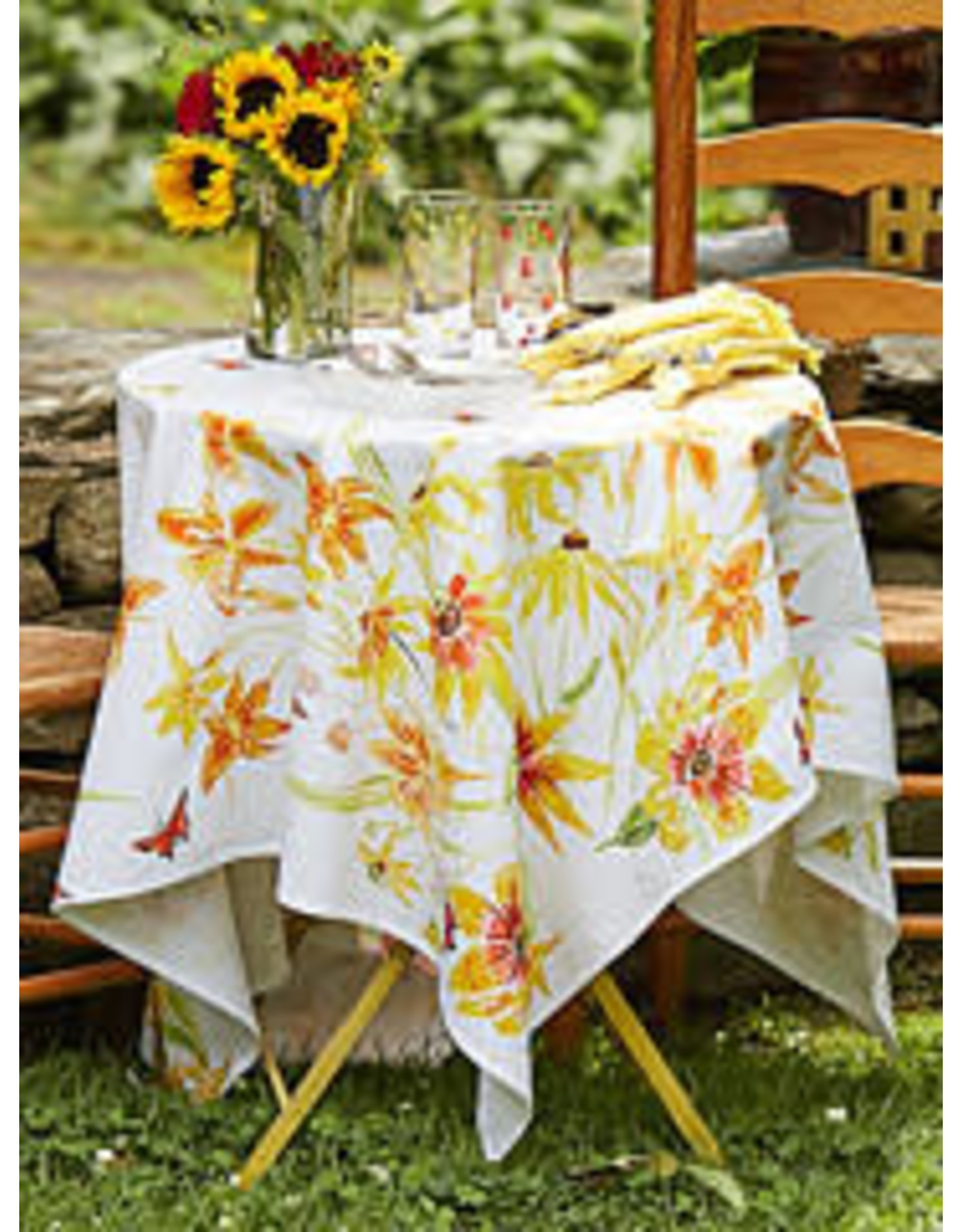 April Cornell April Cornell Black Eyed Susan Tablecloth 60x90