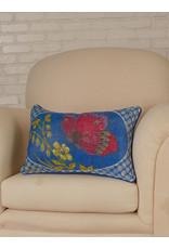 April Cornell April Cornell Blue Mariposa Velvet Cushion