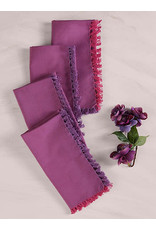 April Cornell April Cornell Chambray Plum Napkins Set of 4